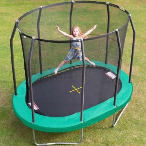 Jumpking Premium Oval Trampoline and Enclosure  - 7ft x 10ft