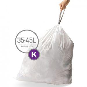 Simplehuman Code K Custom Fit Bin Liners, 35-45 Litres - 60 Pack