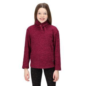 Regatta Children's Kacie Hooded Fleece - Raspberry Radiance Marl