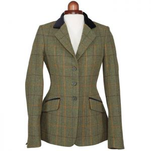 Shires Children's Aubrion Saratoga Jacket - Red/Yellow/Blue Check