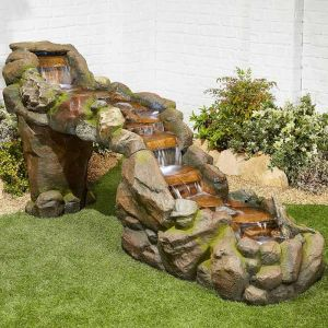 Kelkay Bustling Waters Water Feature with LED's