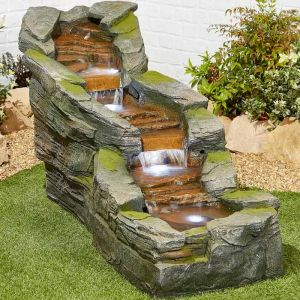 Kelkay Simmering Falls Water Feature with LED's