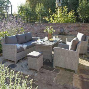 Kettler Palma Sofa Set, Whitewash- 7 Seater