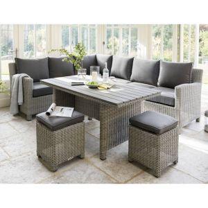 Kettler Palma 8 Seater Corner Dining Set - Whitewash