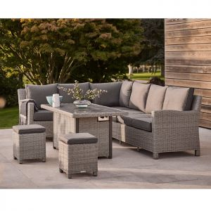 Kettler Palma 8 Seater Corner Dining Set with Fire Pit