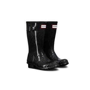 Hunter Original Children's Starcloud Wellington Boots - Black