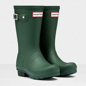 Hunter Children's Original Children's Wellington Boots - Green