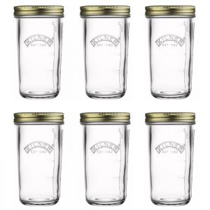 6 x Kilner Wide Mouth Preserve Jar, 0.5 Litre