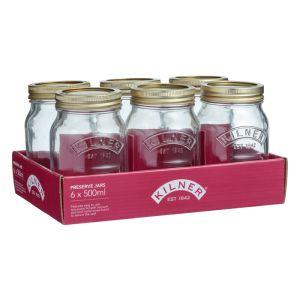 6 x Kilner Screw Top Preserve Jar, 0.5 Litre