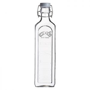 Kilner Square Clip Top Bottle – 1 Litre
