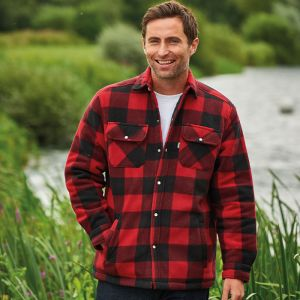 Champion Men's Kinross Quilted Padded Shirt - Red