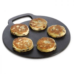 KitchenCraft Circular Cast Iron Baking Stone- 10.5in