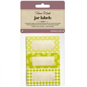 KitchenCraft Home Made Jam Jar Labels - Garden Green, 30 Pack
