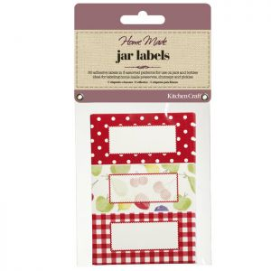 KitchenCraft Home Made Jam Jar Labels - Orchard, 30 Pack