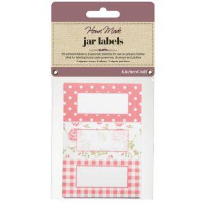 KitchenCraft Home Made Jam Jar Labels - Roses, 30 Pack