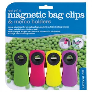 KitchenCraft Magnetic Memo Clips - 4 Pack