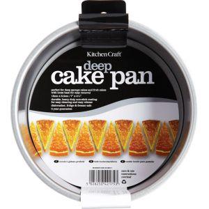 KitchenCraft Non-Stick Loose Base Deep Baking Pan - 7in