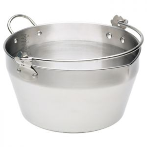 Home Made Stainless Steel Maslin Pan - 9 Litre