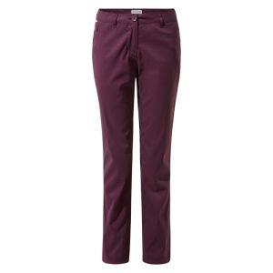 Craghoppers Women's Kiwi Pro II Trousers – Regular, Plum