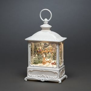 Konstsmide LED Water Filled Lantern – Father Christmas over the Village