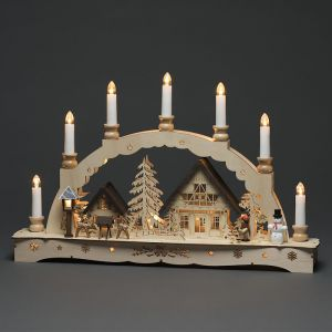 Konstsmide LED Wooden Christmas 7 Candles Silhouette