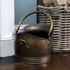 Large Coal Bucket - Antique Brass