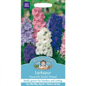 Mr Fothergill's Mixed Hyacinth Dwarf Larkspur Seeds