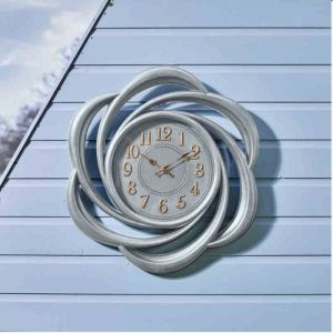 Outside In Lattice Wall Clock - Grey