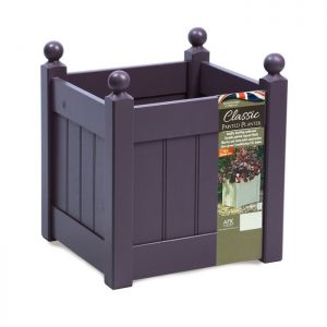AFK Classic Square Wooden Planter, Lavender - 15in