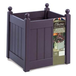 AFK Classic Square Wooden Planter, Lavender - 18in