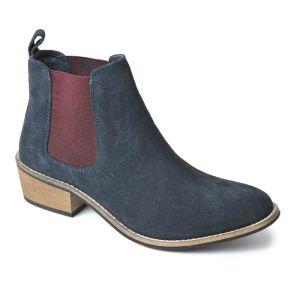 Silver Street Layla Dealer Boots - Navy