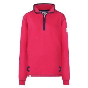 Lazy Jacks Ladies' 1/4 Zip Sweatshirt - Cerise