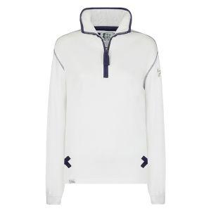 Lazy Jacks Ladies' 1/4 Zip Sweatshirt - White