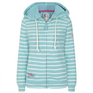 Lazy Jacks Ladies' Full Zip Hooded Sweatshirt - Turquoise