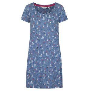 Lazy Jacks Ladies' Printed T-shirt Dress - Summer Boats