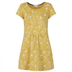 Lazy Jacks Ladies' Printed Tunic Top - Garden Yellow