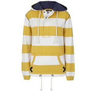 Lazy Jacks Ladies' Pull on Hoody - Gorse Yellow Stripe