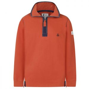 Lazy Jacks Men's 1/4 Zip Sweatshirt - Orange