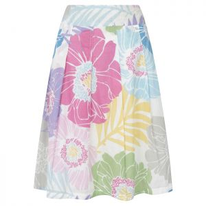 Lazy Jacks Printed Cotton Skirt – Summer Floral