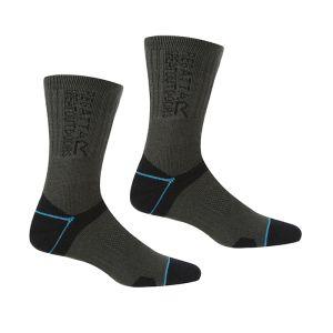 Regatta Women's Blister Protection II Socks, Pack of 2 – Black