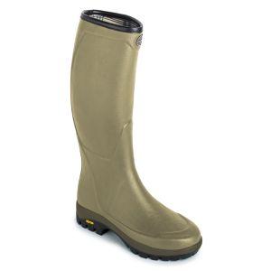 Le Chameau Women's Country Vibram Jersey Wellington Boots - Green