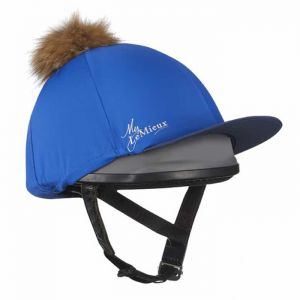 LeMieux Faux Pom Pom Hat Silk - Benetton Blue