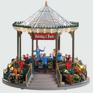 Lemax Christmas Figurine - Holiday Garden Green Bandstand