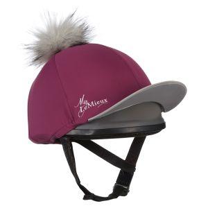 LeMieux Faux Pom Pom Hat Silk - Plum