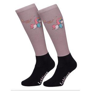 LeMieux Children's Footsie Socks – Unicorn
