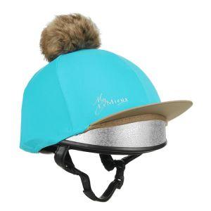 LeMieux Faux Pom Pom Hat Silk – Azure