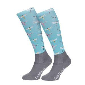 LeMieux Women's Footsie Socks – Dragonfly