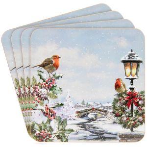 Lesser & Pavey Robin Coasters - Set of 4