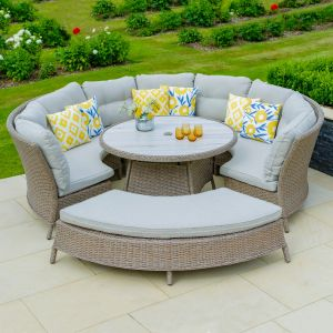 LG Outdoor Bergen 8 Seater Curved Modular Set