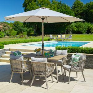 LG Outdoor Sarasota 6 Seater Rectangular Modular Dining Set